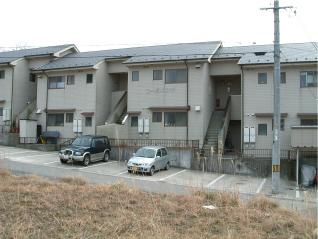 敷金1ヶ月、礼金1ヶ月!松江市橋南|乃木福富町の2DKアパート、コーポメツギ外観写真